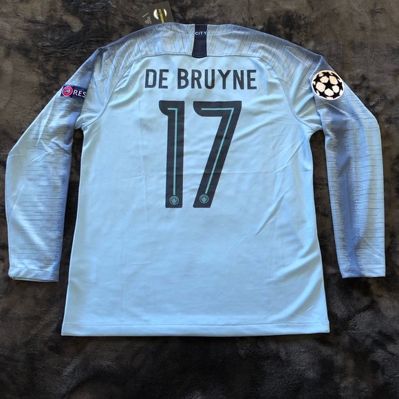 the best attitude 20481 1653a Manchester City Long Sleeve Kevin De Bruyne NWT